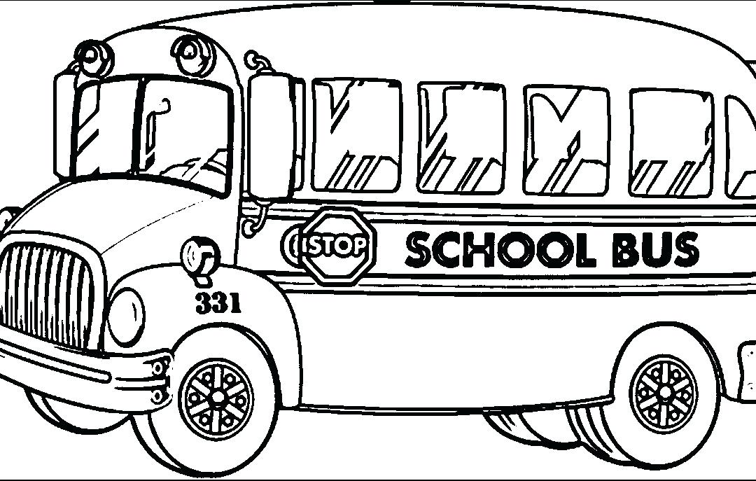 1080x687 School Bus Coloring Page Download School Bus Coloring Pages