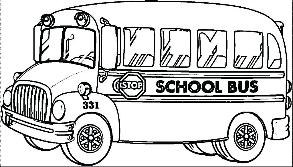1024x585 School Bus Coloring Page Free School Bus Safety Coloring Book Kids
