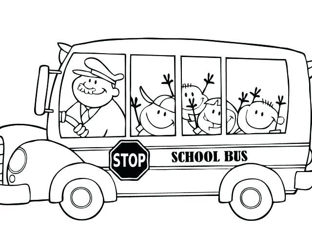 640x480 School Bus Coloring Page Printable Printable School Bus Coloring