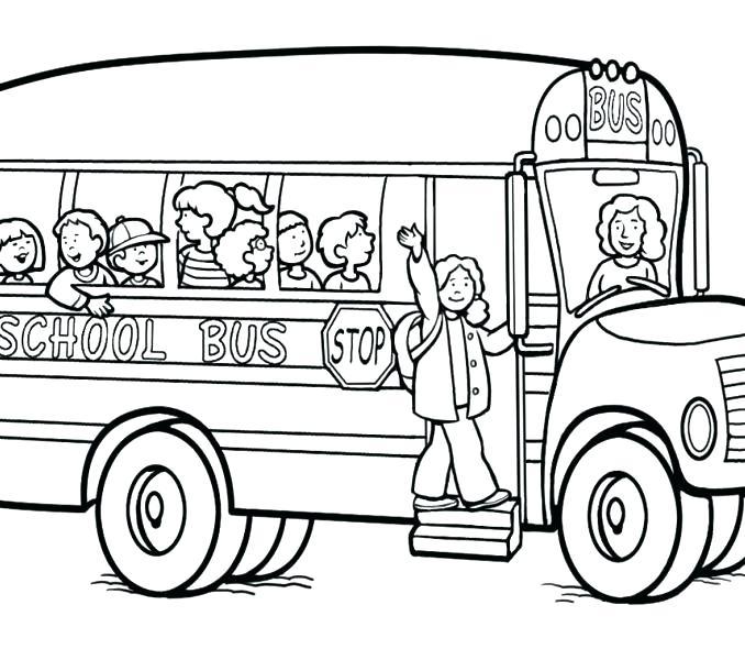678x600 School Bus Coloring Page Printable School Bus Coloring Page