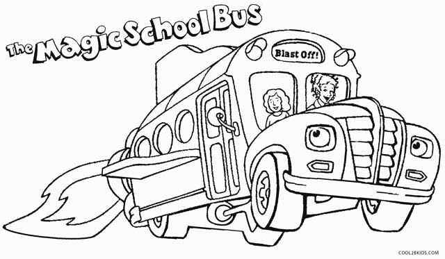 640x373 School Bus Coloring Pages Printable Page For Kids