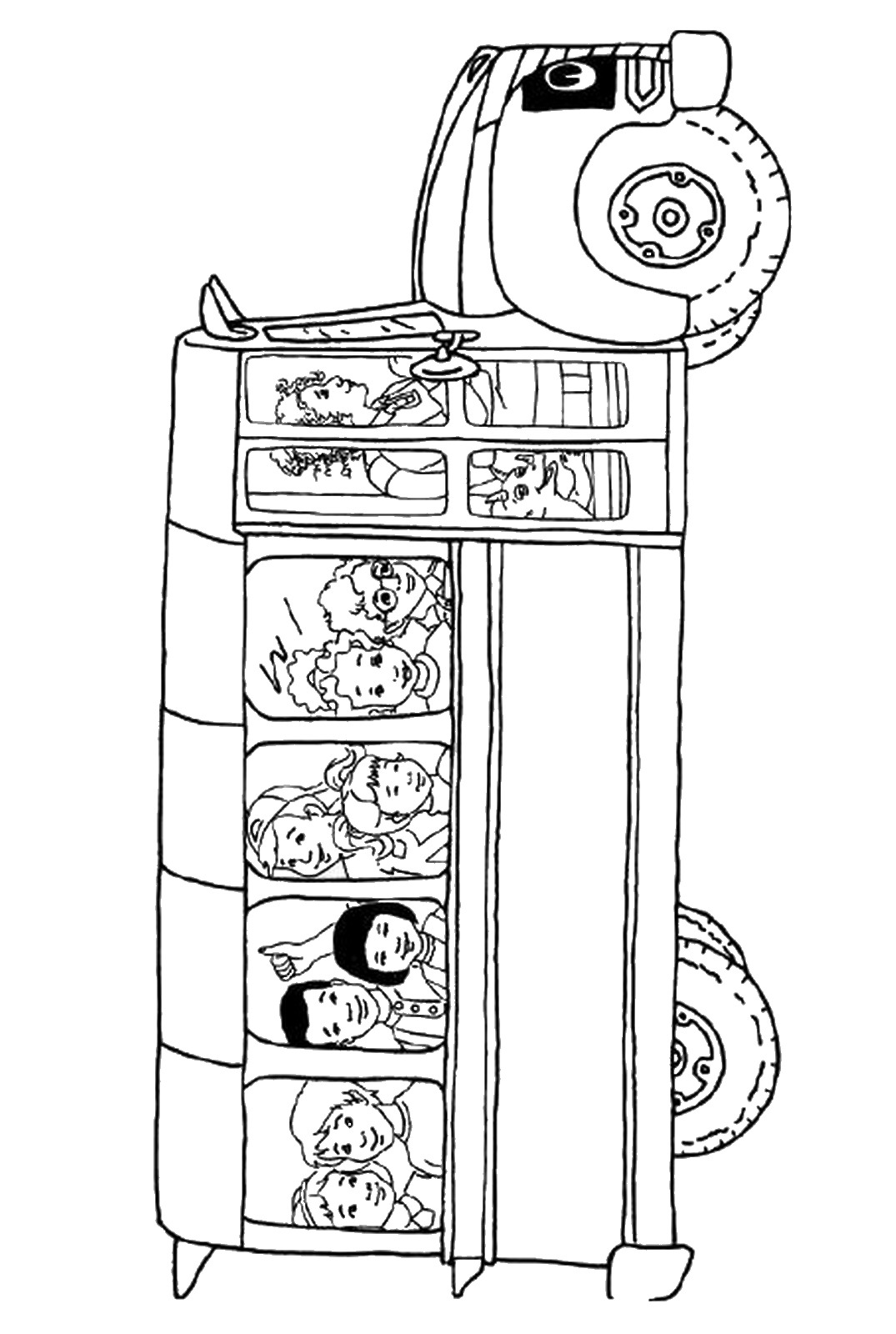 1075x1600 The Magic School Bus Coloring Pages