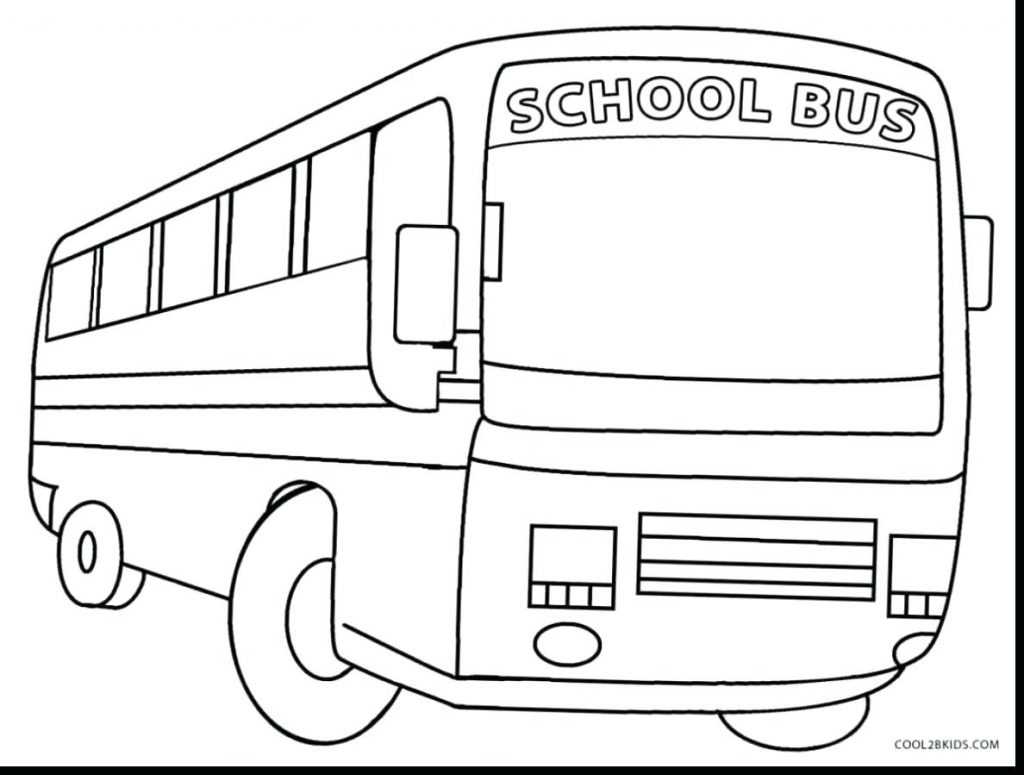 1024x775 Coloring Pages Bus Coloring Page Superb Printable School Pages