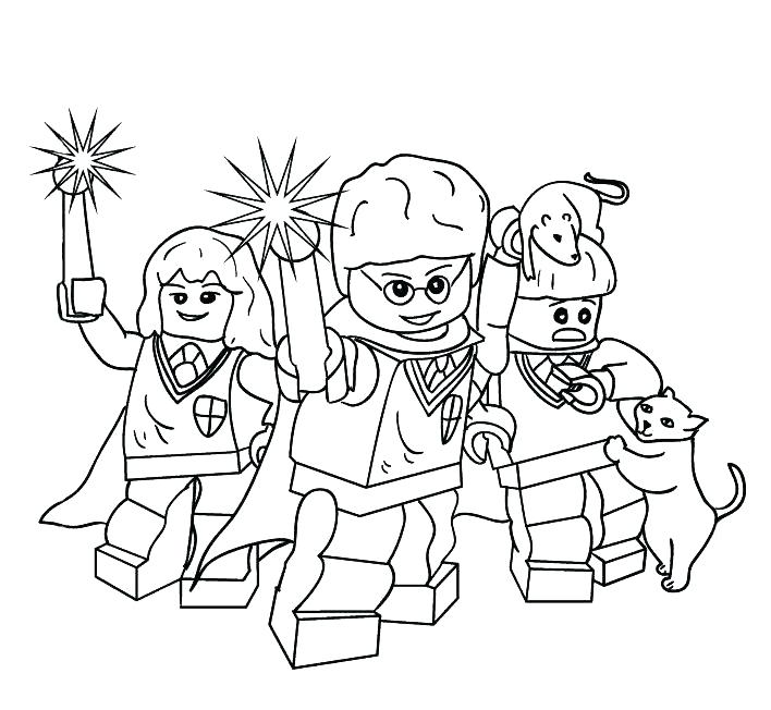 708x652 Lego Harry Potter Coloring Pages Harry Potter Magic Wand Coloring