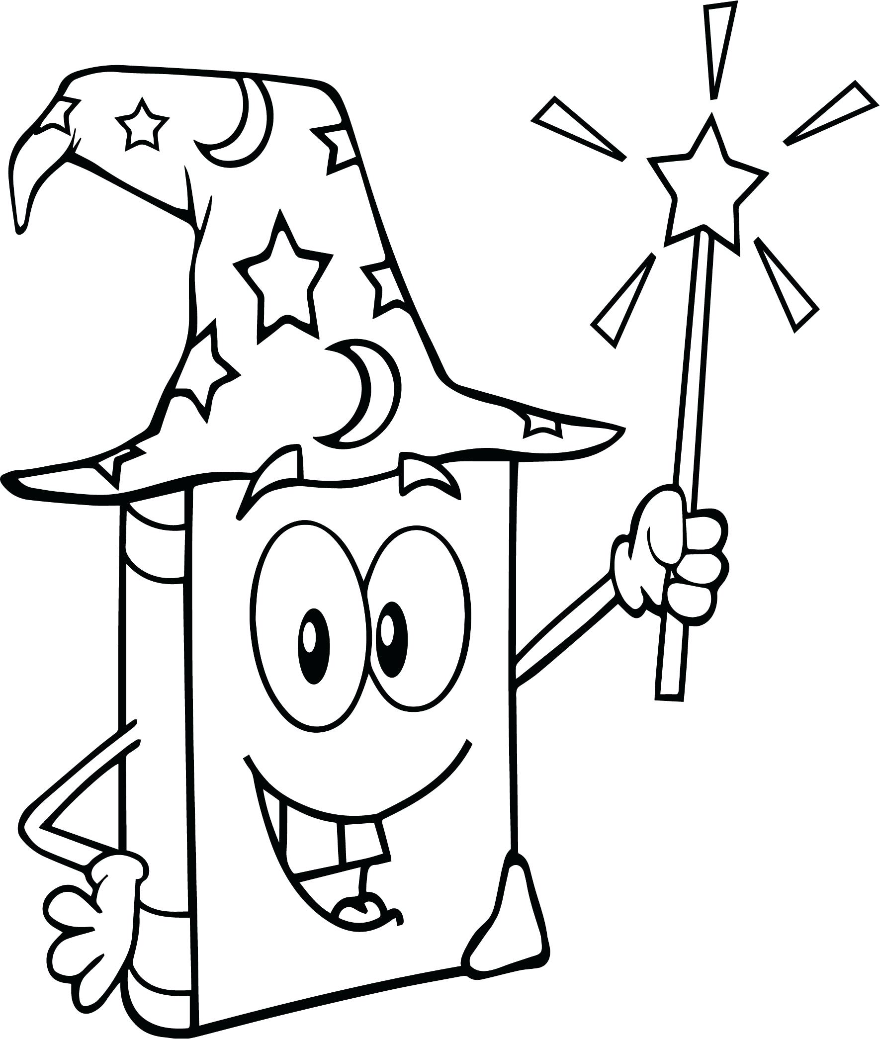 1770x2090 Magic Wand Coloring Page