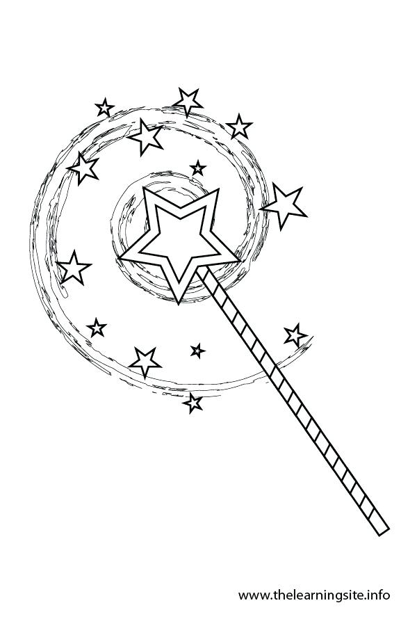 600x900 Magic Wand Coloring Page Coloring Page Outline Wand Magic Wand