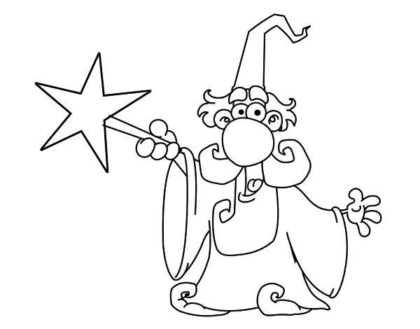 600x470 Magic Wand Coloring Pages