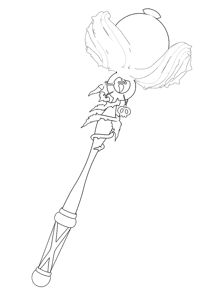 768x1024 Vicky's Magic Wand To Color