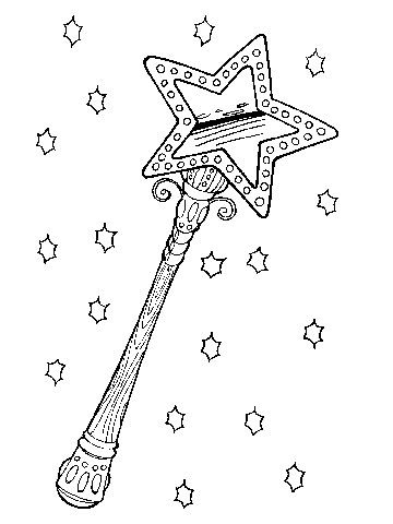 360x480 Magic Wand Coloring Page Magic Wand Coloring Page Best Coloring