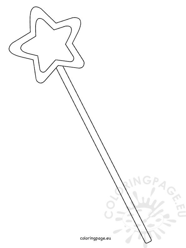 595x793 Magic Wand Coloring Page Printable Magic Fairy Wand Template