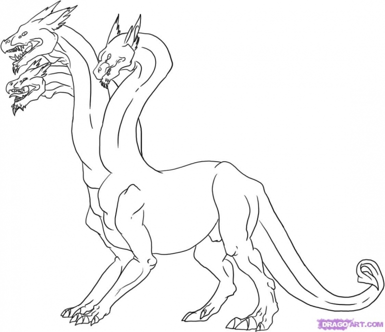 770x663 New Mythical Creatures Coloring Pages For Coloring Site