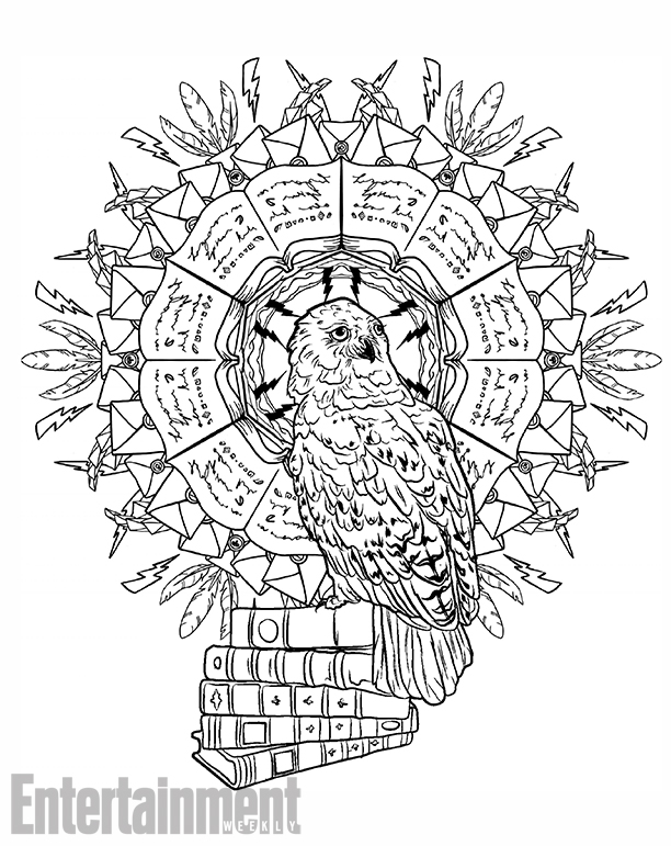 612x771 A Harry Potter Magical Creatures Coloring Book Is On The Way Nerdist