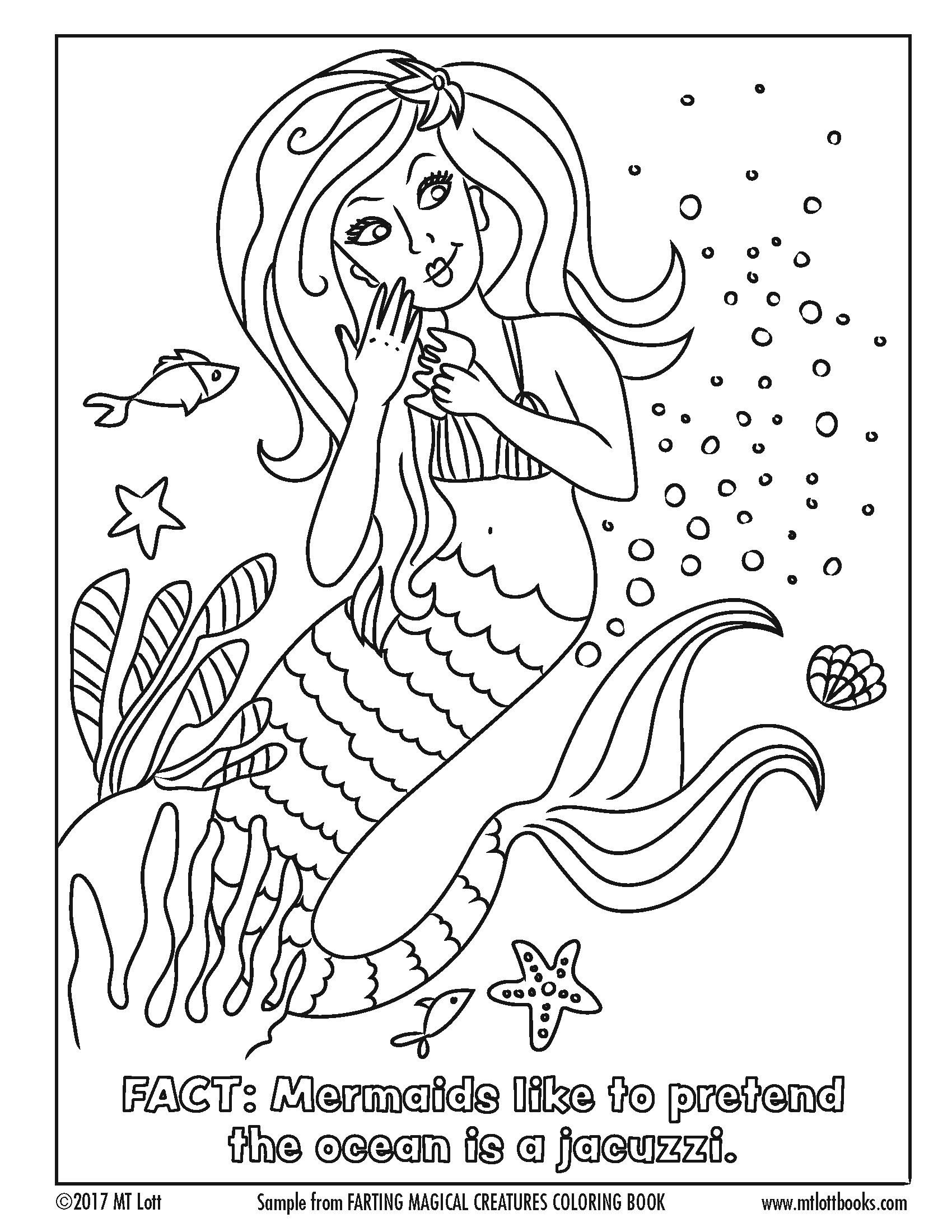 1700x2200 Free Coloring Page From M T Lott's, Farting Magical Creatures