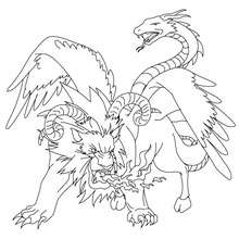 220x220 Greek Fabulous Creatures And Monsters Coloring Pages