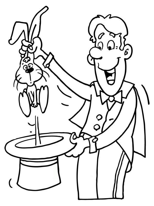 600x800 Theme Magician Coloring Pages Juf Milou