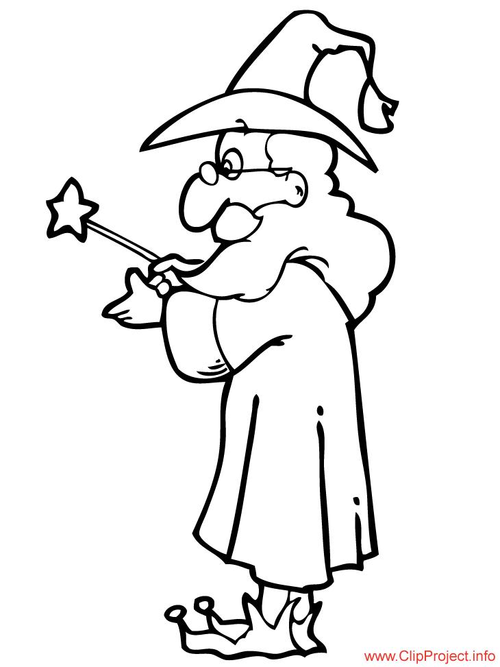 730x973 Wizard Coloring Magician Free Sheet