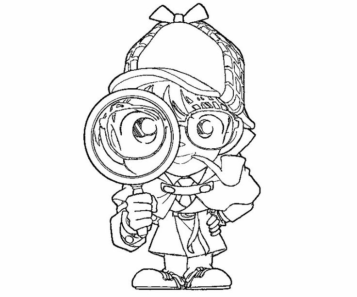 Magnifying Glass Coloring Page