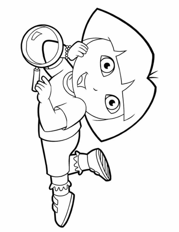 612x792 Dora Colouring Sheets