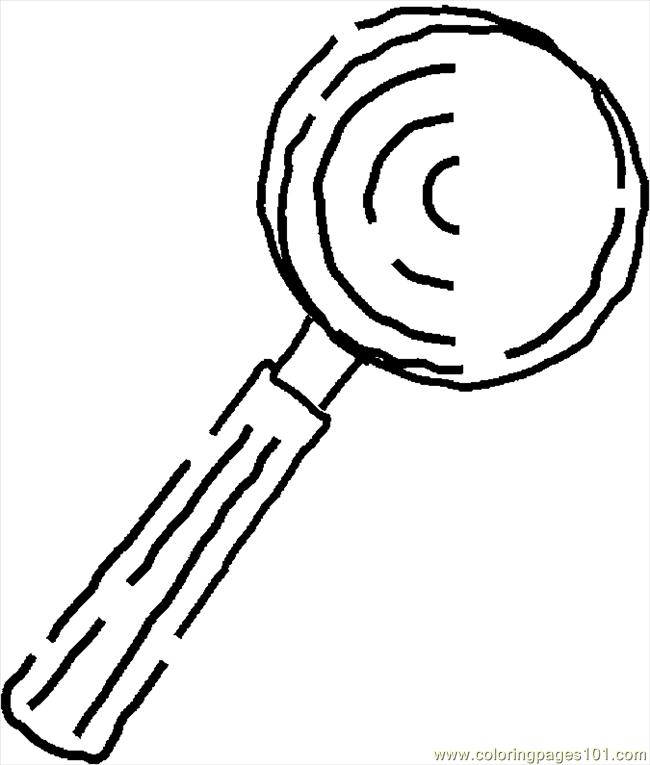 650x765 Magnifying Glass Coloring Page