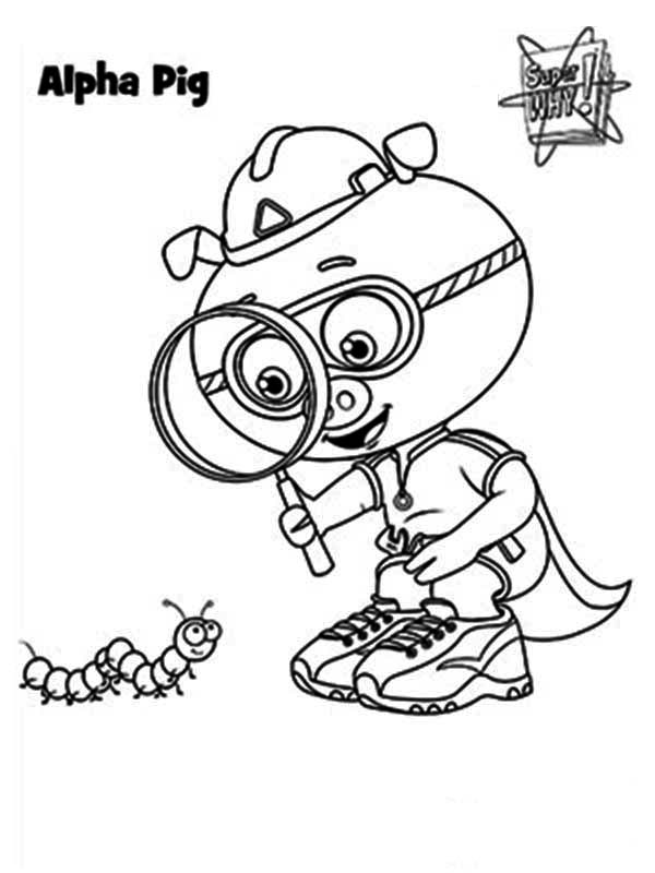 600x800 Magnifying Glass Coloring Page