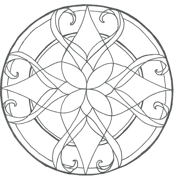 600x590 Stained Glass Coloring Pages Coloring Page For Kids Kids Coloring