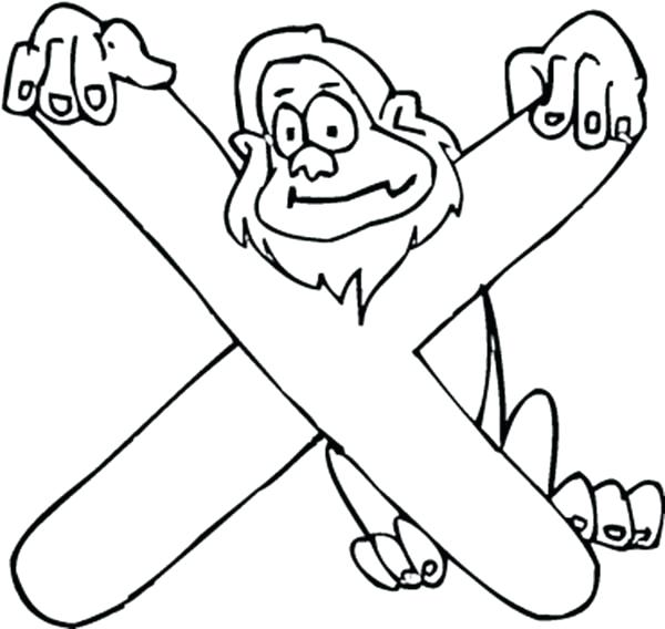 600x568 Letter X Coloring Page Kids Learning Letter X Coloring Page Letter
