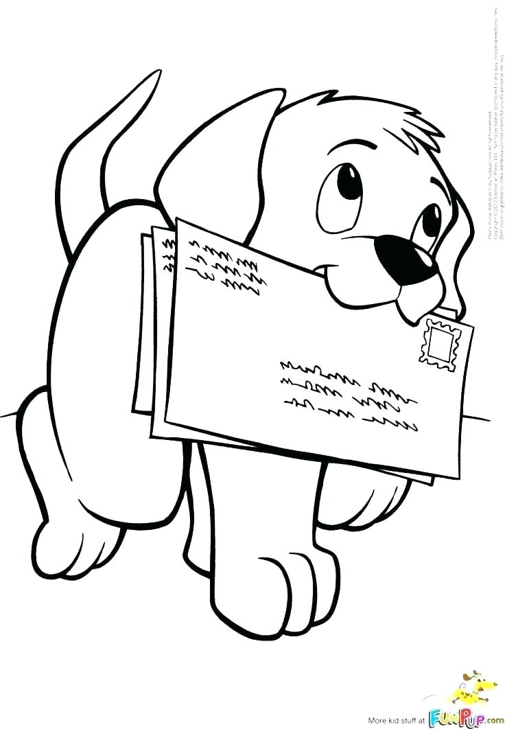 736x1062 Amazing Puppy Coloring Pages Fee Cute Cartoon Pup In Motion Page