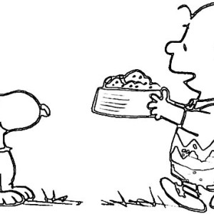 300x300 Charlie Brown Pet Snoopy Got A Lot Of Mail Coloring Page Charlie