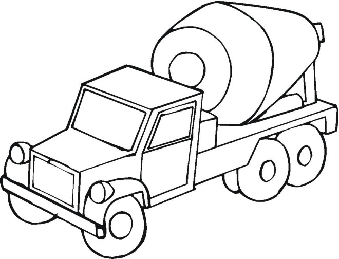 660x504 Cement Truck Coloring Page For Kids Free Coloring Pages
