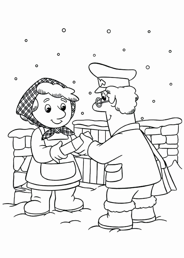600x840 Inspirational Of Postman Pat Coloring Pages Pics