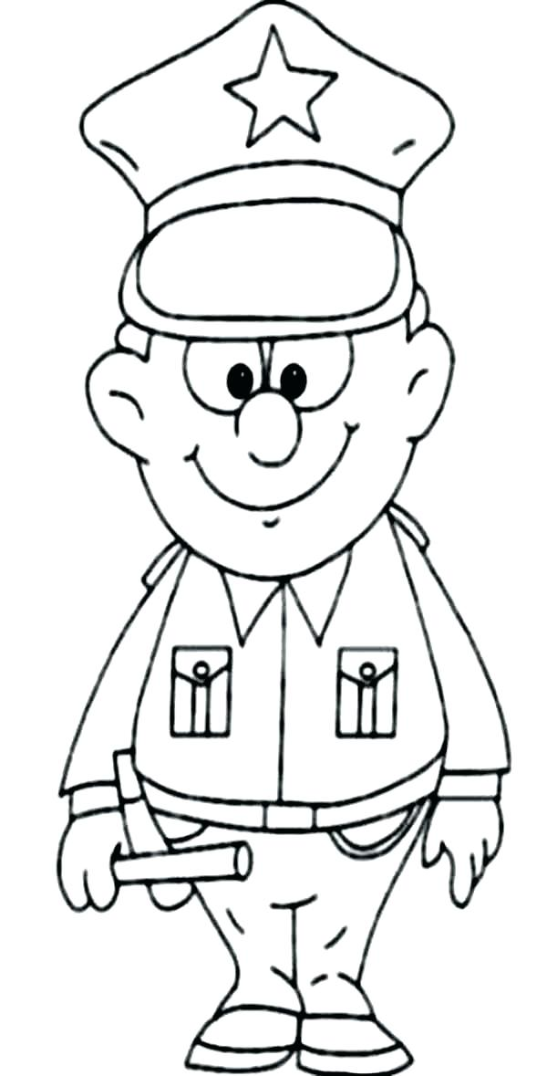 600x1179 Police Officer Coloring Pages