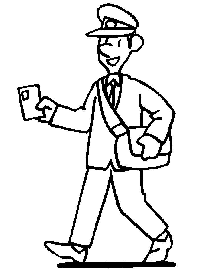 718x957 Postman Coloring Page Post Office Community