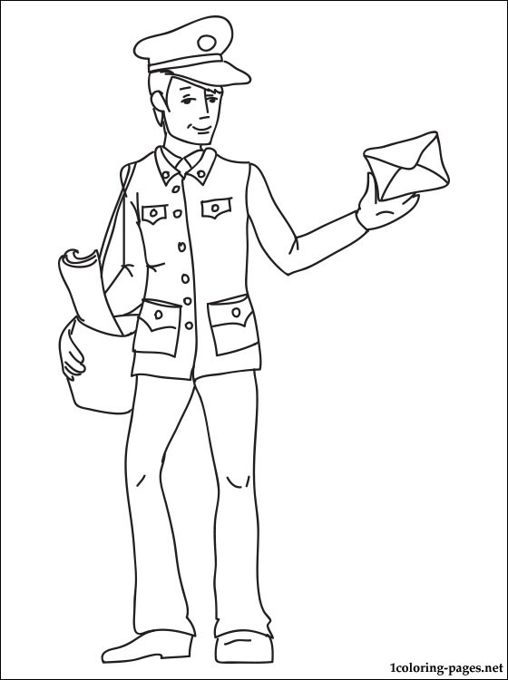 560x750 Postman Coloring Page Coloring Pages