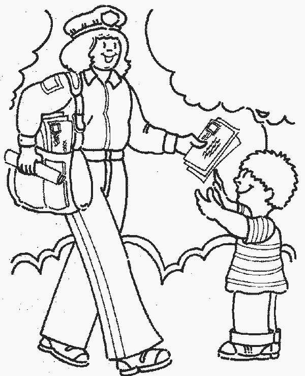600x739 Community Coloring Pages Community Helpers Coloring Pages