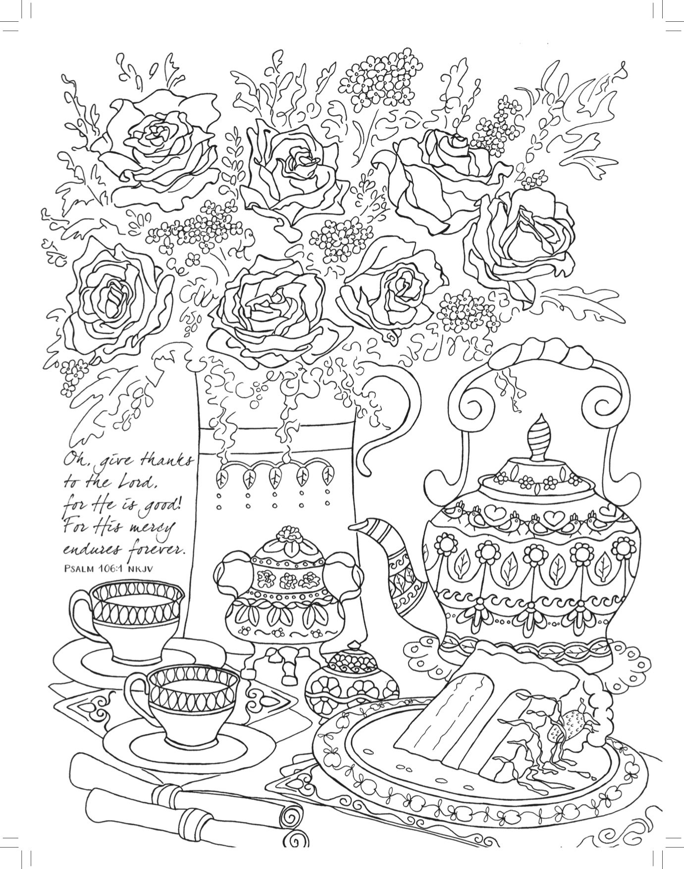 1381x1756 Cool Amazon Tea For Two Coloring Friendship Majestic Expressions