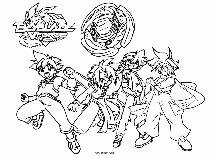 850x619 Majestic Design Beyblade Coloring Pages Free Printable For Kids