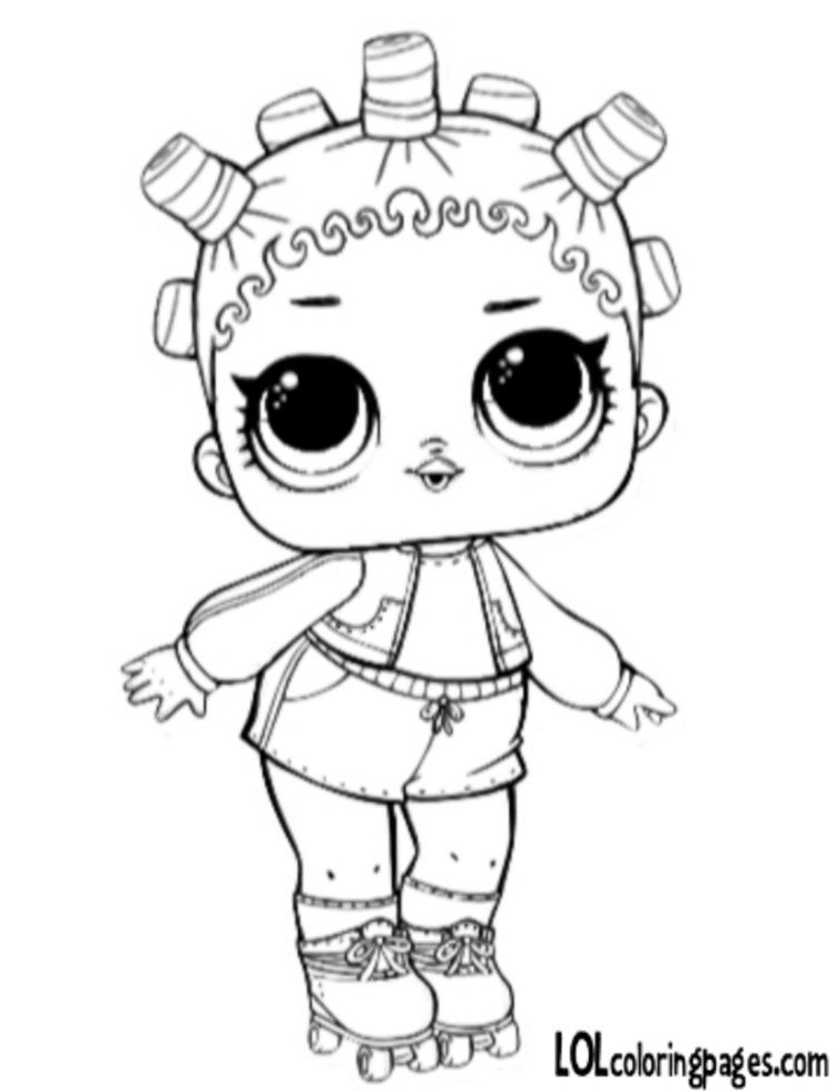 750x980 Roller Coloring Page Lol Surprise Doll Coloring Pages