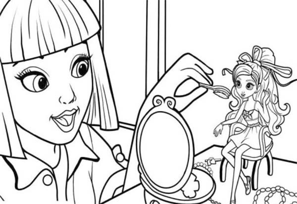 600x412 Make A Coloring Page Vanessa Doing Make Up On Barbie Thumbelina