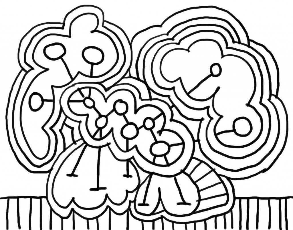 1024x804 Abstract Coloring Pages For Kids Free Printable Print It