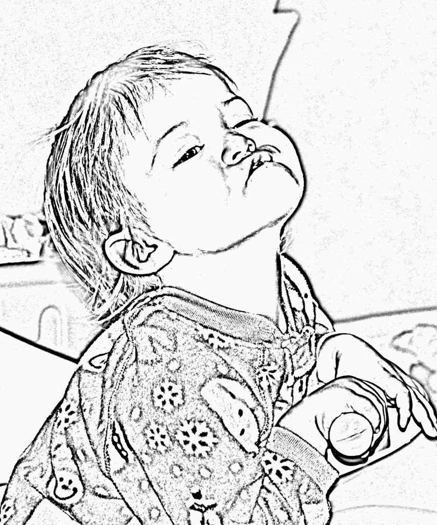 853x1024 Turn Picture Into Coloring Page Photoshop Turn Your Photo