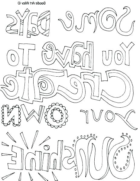 463x600 Make Your Own Coloring Pages With Words And Create Coloring Pages
