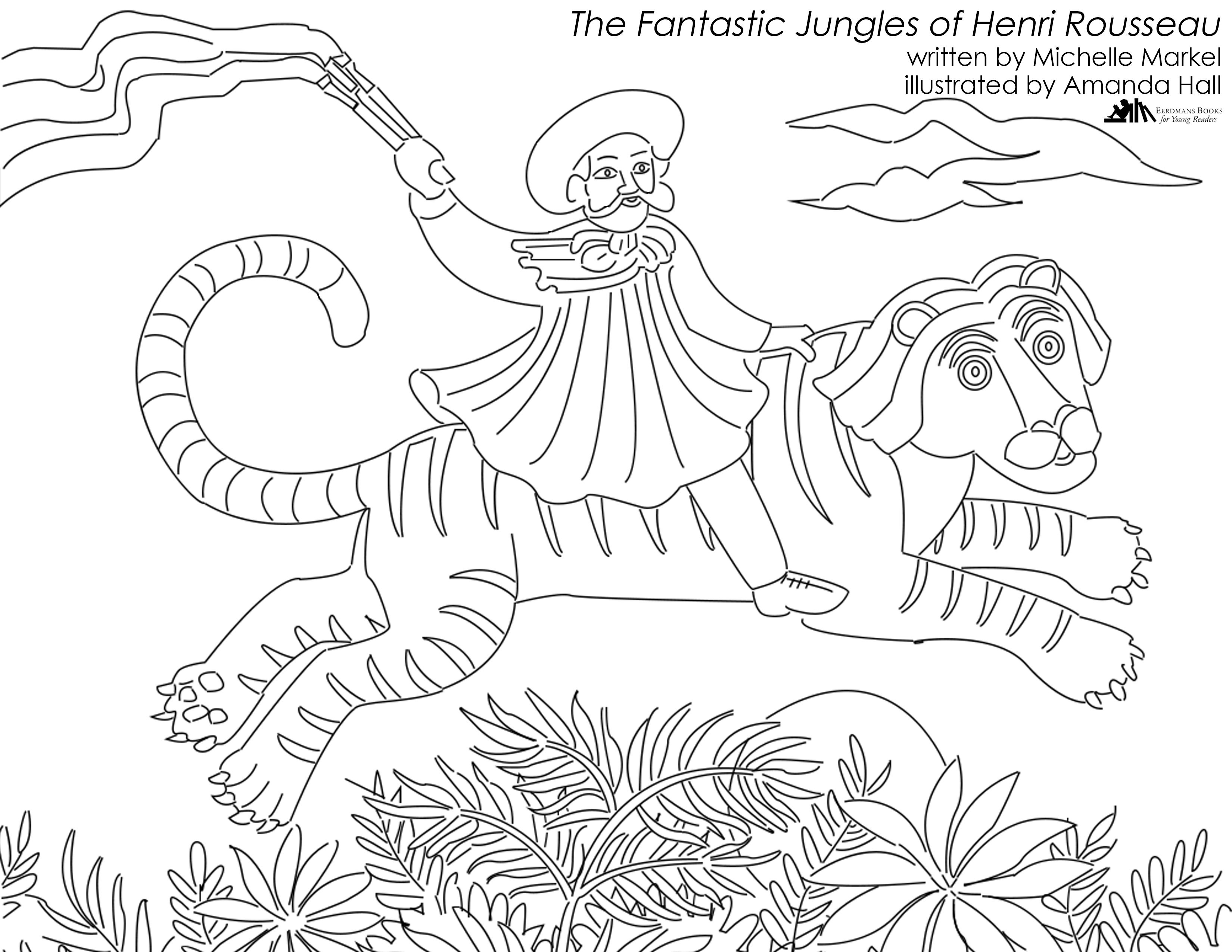 3300x2550 Best Of Fantastic Jungles Of Henri Rousseau Coloring Page Free