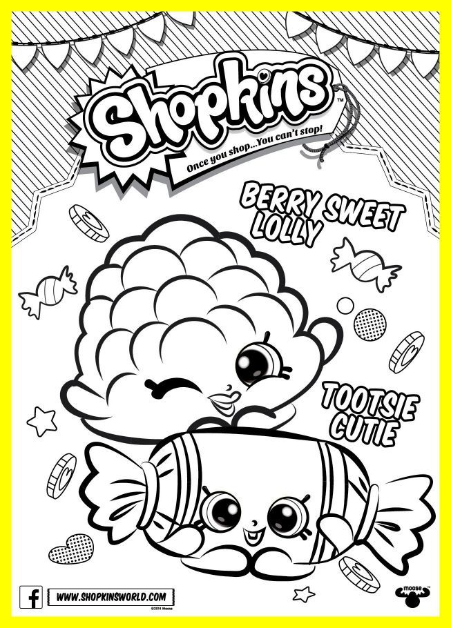 653x910 Astonishing Shopkins Coloring Pages Season Berry Sweet Lolly