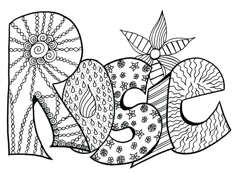 827x609 Make Your Own Name Coloring Pages Color In Page Gener