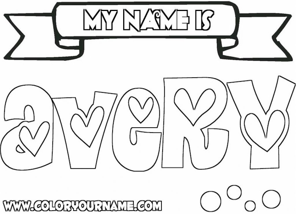 1024x740 Make Your Own Coloring Pages With Your Name On It Coloring Pages