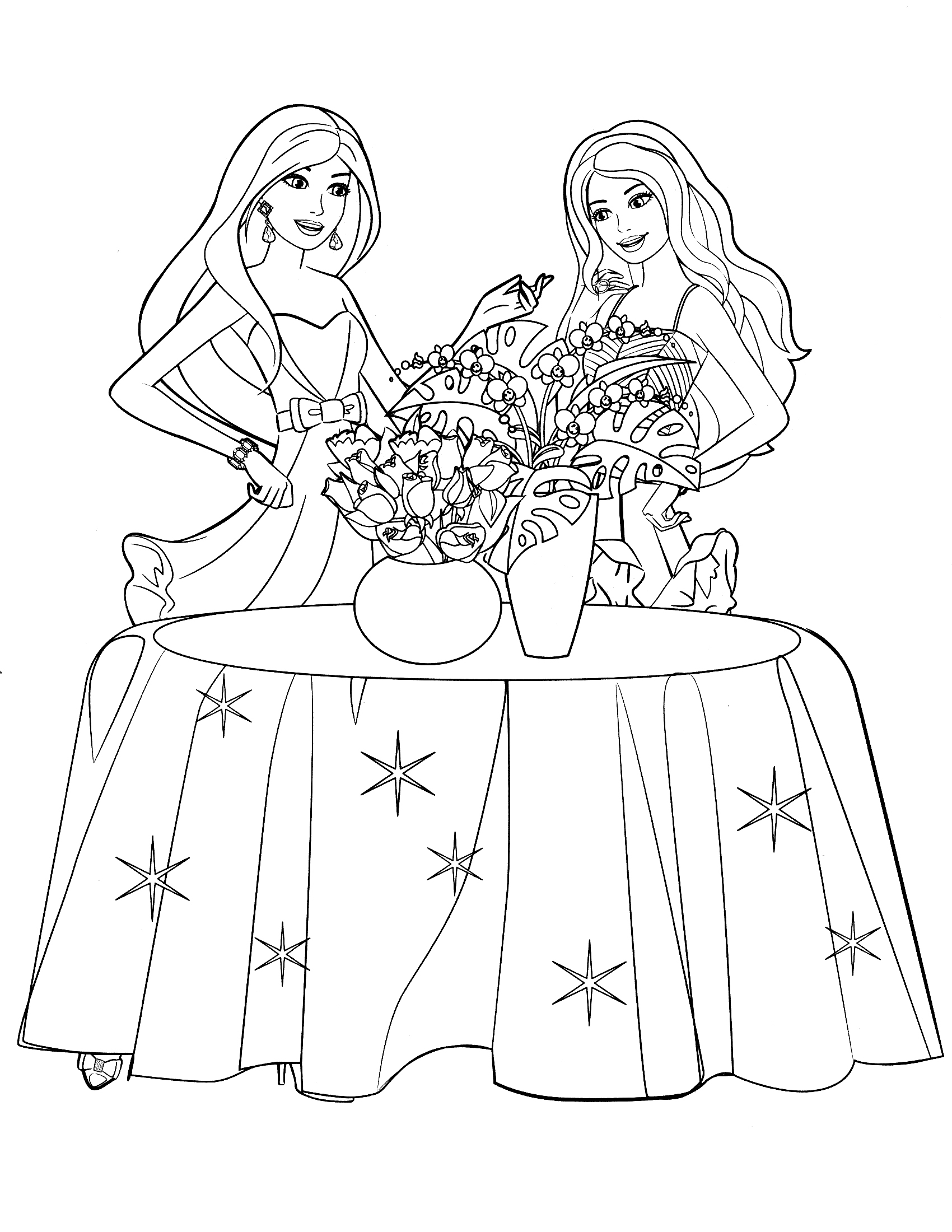 1700x2200 Coloring Pages Makeup Faces Colorin