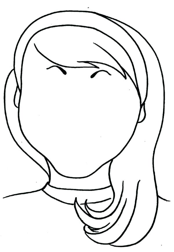 600x867 Girl Face Coloring Pages Google Search Safe Pregnancy Makeup Face
