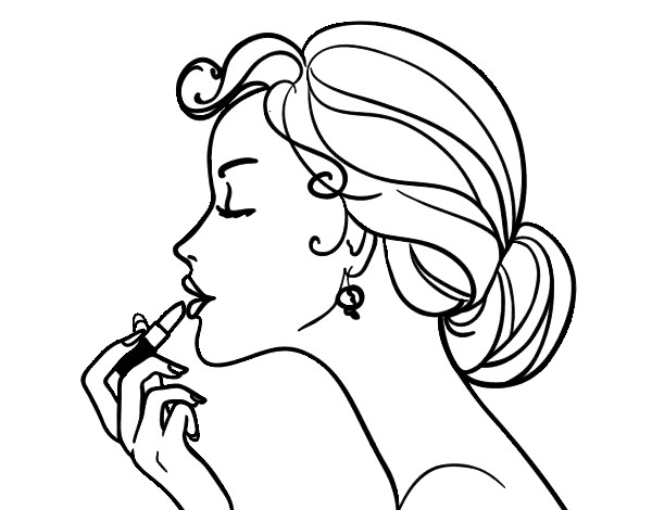 600x470 Makeup Coloring Pages