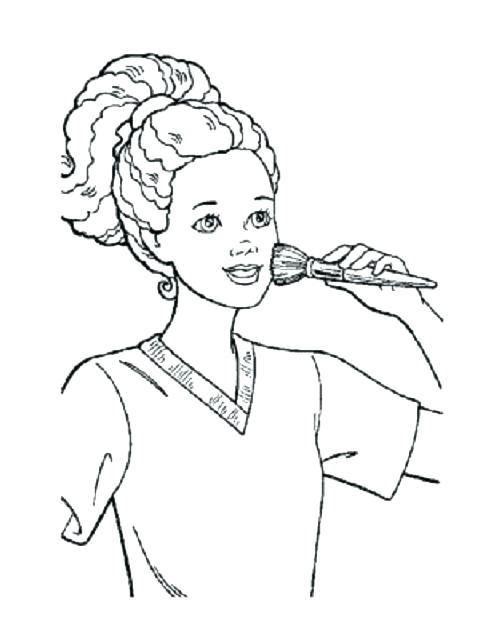 494x640 Makeup Face Coloring Pages This Is Makeup Coloring Pages Pictures