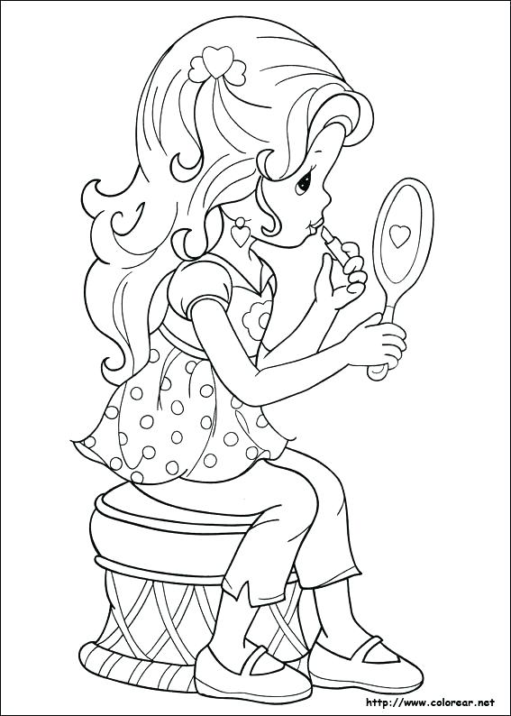 567x794 Makeup Coloring Pages